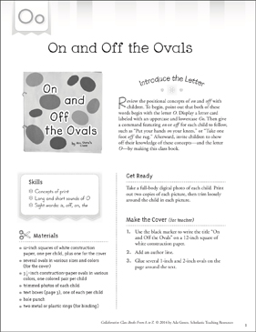On and Off the Ovals: Letter O Collaborative Class Book - Printable Worksheet