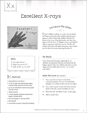 Excellent X-rays: Letter X Collaborative Class Book - Printable Worksheet