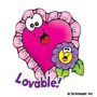 Lovable Valentines: Mini-Sticker - Image Clip Art