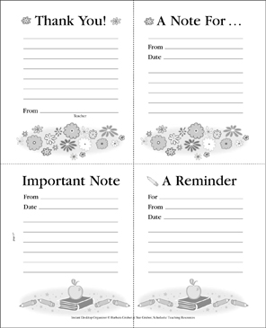 picture regarding Notes Printable named Simple Reminders Notes Property: The Well prepared Trainer