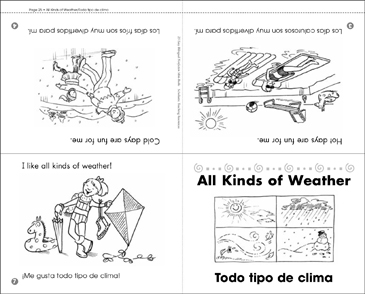 All Kinds of Weather/Todo Tipo de Clima - Printable Worksheet