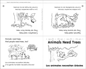 Animals Need Trees/Los Animales Necesitan Árboles - Printable Worksheet