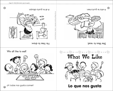 What We Like/Lo Que Nos Gusta - Printable Worksheet