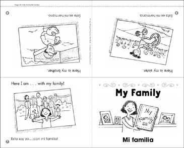 My Family/Mi Familia - Printable Worksheet