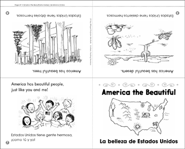 America the Beautiful/La Belleza de Estados Unidos - Printable Worksheet