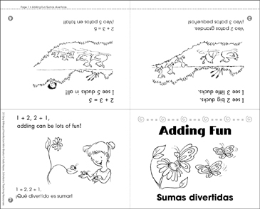 Adding Fun/Sumas Divertidas - Printable Worksheet