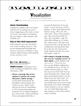 Visualization: Leveled Graphic Organizers for Differentiated Reading Instruction (Grades 4-8) - Printable Worksheet