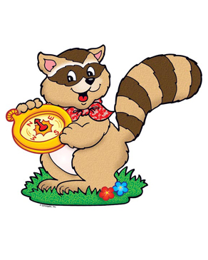 Raccoon with Compass - Image Clip Art