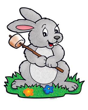 Bunny with Toasted Marshmallow - Image Clip Art