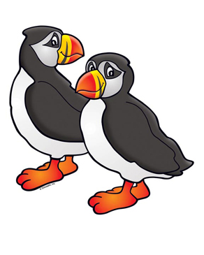 A Pair of Puffins - Image Clip Art