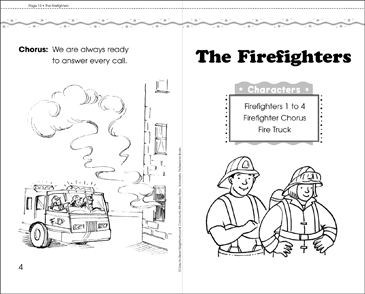 The Firefighters: Play - Printable Worksheet