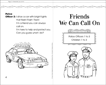 Friends We Can Call On: Mini-Book Play - Printable Worksheet