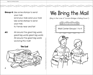 We Bring the Mail: Play - Printable Worksheet