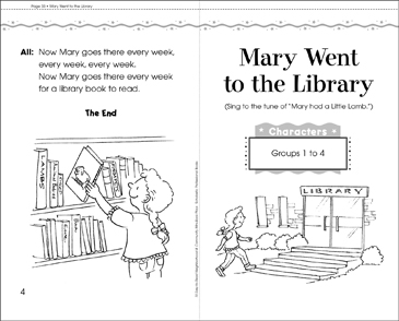 Mary Went to the Library: Play - Printable Worksheet
