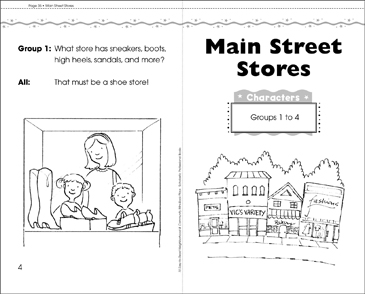 Main Street Stores: Mini-Book Play - Printable Worksheet