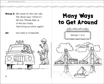 Many Ways to Get Around: Mini-Book Play - Printable Worksheet