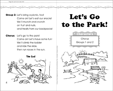 Let's Go to the Park: Play - Printable Worksheet