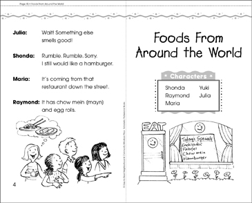 Foods From Around the World: Play - Printable Worksheet