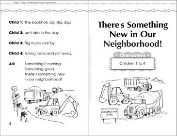 There's Something New in Our Neighborhood: Play - Printable Worksheet