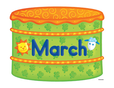 March Birthday Cake Clip Art