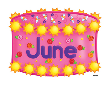 June Birthday Cake Clip Art