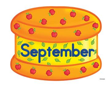 September Birthday Cake Clip Art