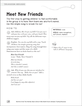 Meet New Friends: Circle Time Activity - Printable Worksheet