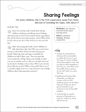 Sharing Feelings: Circle Time Activity - Printable Worksheet
