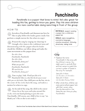 Punchinello: Circle Time Activity - Printable Worksheet