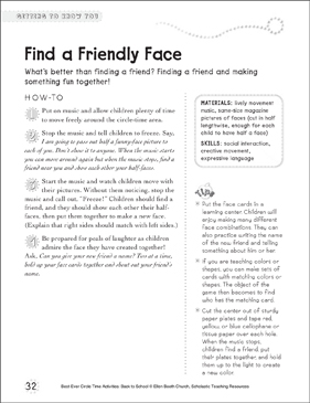 Find a Friendly Face: Circle Time Activity - Printable Worksheet