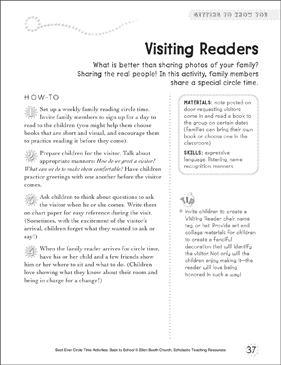 Visiting Readers: Circle Time Activity - Printable Worksheet