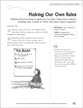 Making Our Own Rules: Circle Time Activity - Printable Worksheet