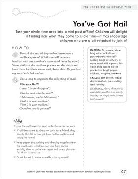 You've Got Mail: Circle Time Activity - Printable Worksheet