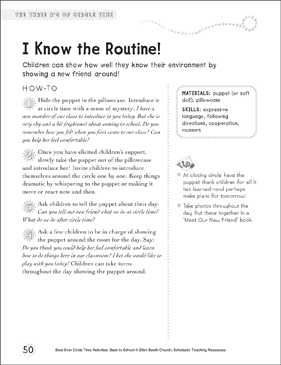 I Know the Routine!: Circle Time Activity - Printable Worksheet