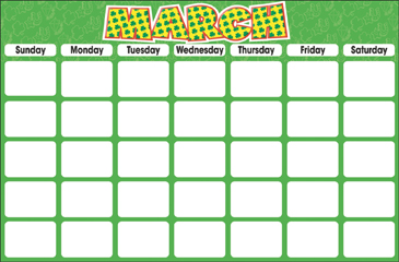 March (Blank Calendar) - Printable Worksheet