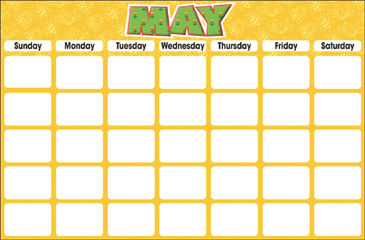May (Blank Calendar) - Printable Worksheet