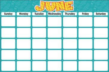 June (Blank Calendar) - Printable Worksheet