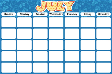 July (Blank Calendar) - Printable Worksheet