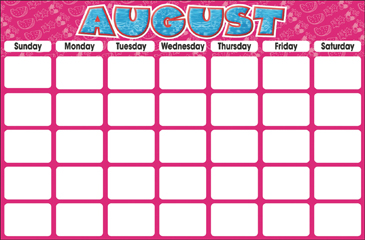 August (Blank Calendar) - Printable Worksheet