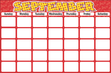 September (Blank Calendar) - Printable Worksheet