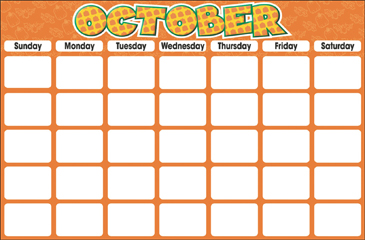 October (Blank Calendar) - Printable Worksheet