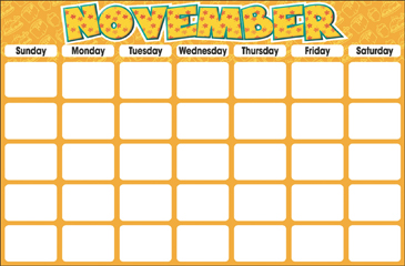 November (Blank Calendar) - Printable Worksheet