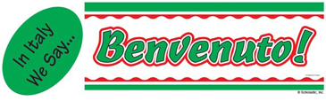 In Italy We Say...Benvenuto! (Welcome!) - Image Clip Art