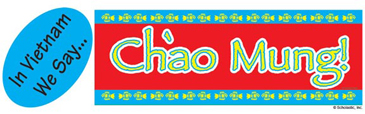 In Vietnam We Say...Chào Mung! (Welcome!) - Image Clip Art