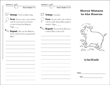 Mercy Watson to the Rescue (Level K): Reading Response Trifold - Printable Worksheet