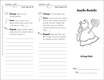 Amelia Bedelia (Level L): Reading Response Trifold ...