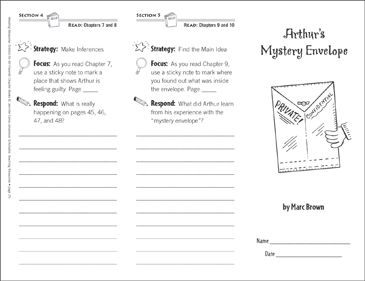Arthur's Mystery Envelope (Level M): Reading Response Trifold - Printable Worksheet