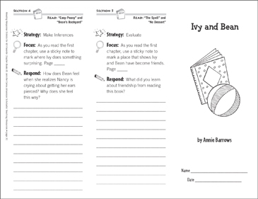 Ivy and Bean (Level M): Reading Response Trifold - Printable Worksheet
