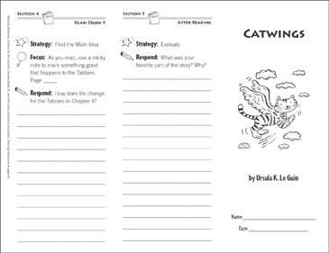 Catwings (Level N): Reading Response Trifold - Printable Worksheet