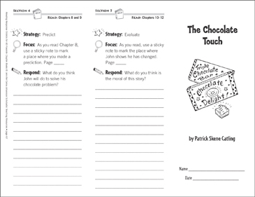 The Chocolate Touch (Level N): Reading Response Trifold - Printable Worksheet